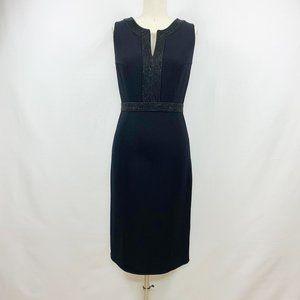 Carmen Marc Valvo Black Sleeveless Sheath Dress